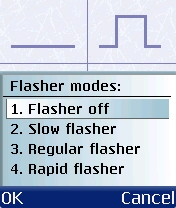 Figure 16 - Flasher choice<br>1 to 4